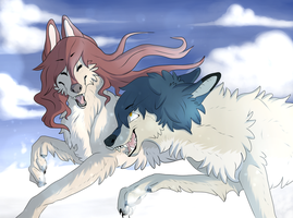 Wolf Children: Ame and Yuki Remake by CheshireWolf97