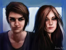 Pair portrait by Junica-Hots