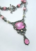 Pink Shell Necklace by Gweyeni