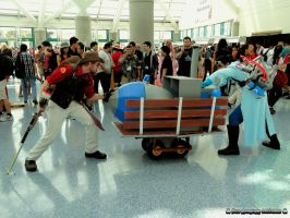 Red team Sniper Vs Blue team Medic (payload cart) by bear213