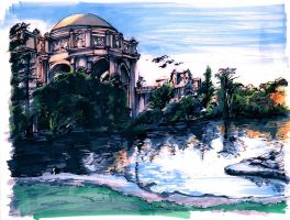 Palace of Fine Arts in Frisco by kidtrip98