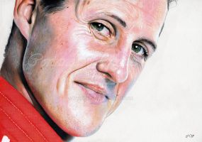 Michael Schumacher by Sadness40