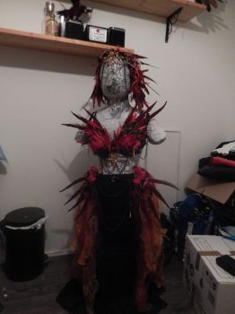 WIP - phoenix lady costume by queenofeagles