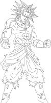 Broly Line Art by hkv3