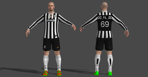JUVENTUS SUIT SOCCER PLAYER by Oo-FiL-oO
