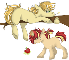 Jonagold and Suncrisp by Brielleo