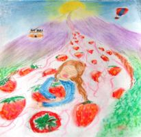 Strawberry avalanche by HurnahTheCaveman