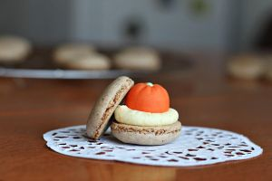 Macaron with marzipan fruit by kupenska
