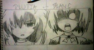 What did you do? - Plutia and Blanc by CFW-Judge