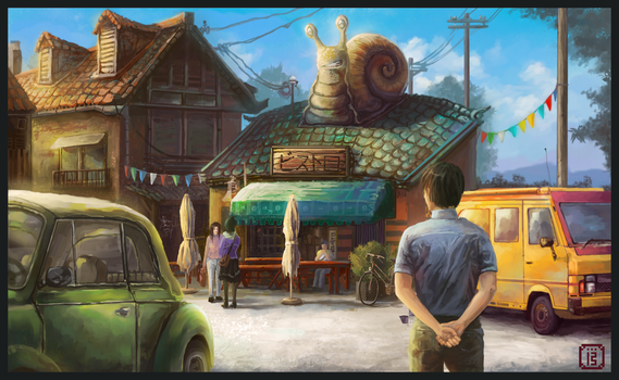 The sunny snail bistro by MalthusWolf