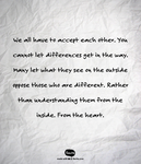 Accepting and Understanding Others. by Angelgirl10