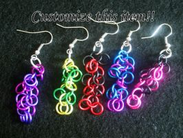 Shaggy Chainmaille Earrings by Lassarina-Jewelry