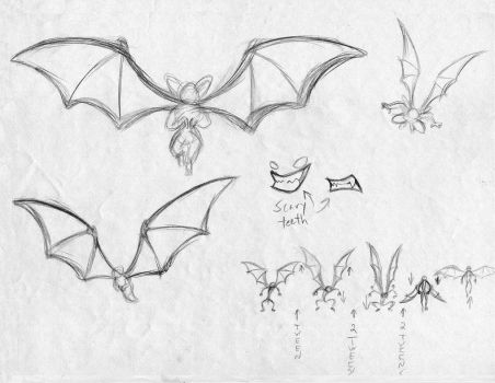 Gargoyle wing sketches page 2 by BUdraw-81