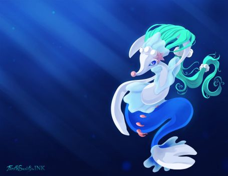 The Pearl of the Sea Primarina by ForthSanity