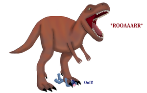 Dave Crushed by T-Rex by TobyMcDee