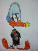 Daffy Duck Dressed Like a Baby by nintendolover2010