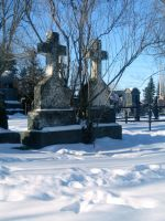 Twin Tombstones in Snow by SweetSoulSister
