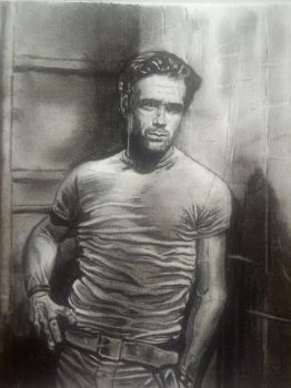 COLIN FARRELL(charcoal pencil , about 3 hours) by alexkajf