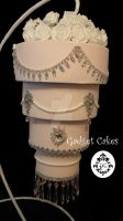 Chandelier Cake Diamonds And Pearls by gadgetcakes