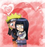 Commission - NaruHina Hug by Wings-chan