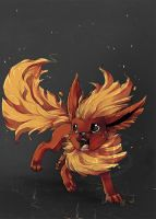 pokemon flareon by tikopets