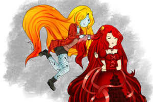 Cherry Princess and Suzz by Flasho-D