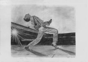 Freddie Mercury - Wembley '86 by Ileina