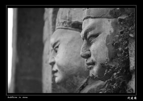 buddhism in stone 2 by davidmcb