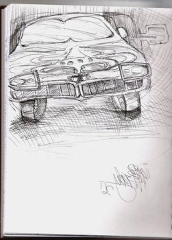 Pontiac GTO Sketch by NightLight3