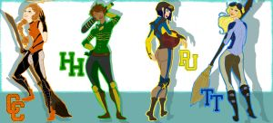 Quidditch Gals by intidepools