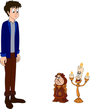 Me, Myself, Lumiere and Cogsworth by Edward2Fan47