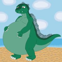 Godzilla is feel so chubby by MCsaurus