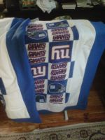 New York Giant baby quilt by kynight