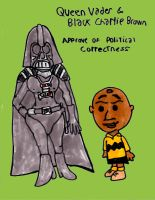 Queen Vader and Black Charlie Brown by SonicClone