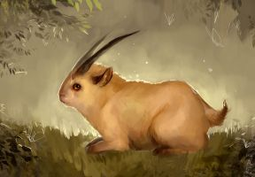 Horned Bunny by iZonbi