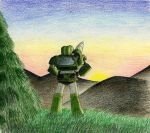 Landscape with robot by crawdadEmily