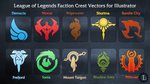 League of Legends Faction Crest Illustrator Vector by TheLadyClockWork