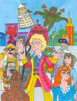 Doctor Who/ Futurama Sixth Doctor (With Color) by iamtherealbender