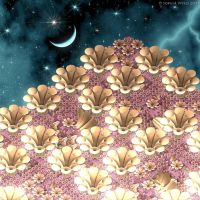 Moon flowers by Fractal-Kiss