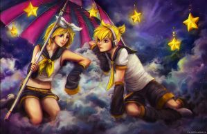 SS: Rin and Len by FalseDelusion