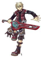 I tried to draw Shulk from Xenoblade Chronicles. by TheHeavenlyError