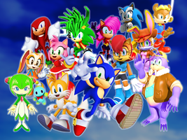 Sonic and his Old Friends and New Friends TV Shows by 9029561