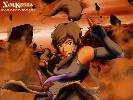 Korra Earthbending in The Earth Kindom by SolKorra