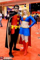 Robin and Supergirl by nonis87