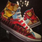 Iron Man Custom Converse All Stars by VeryBadThing