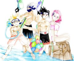 Naruto: Lets Get Wet by erehwonsama