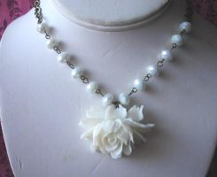 Ice Flower Necklace by LKJSlain