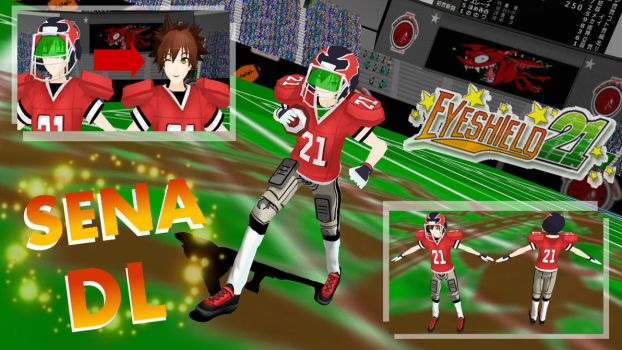 MMD Eyeshield21 American Football Set DL by PrincessSushiCat