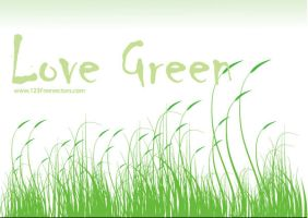 Love Green Vector by 123freevectors