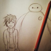 Big Hero 6 sketch by BecauseNevada